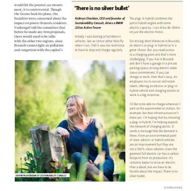 Kathryn Sheridan Quoted in The Bulletin Autumn 2018